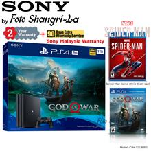Sony PS4 Pro 1TB Playstation 4 Pro 1TB God Of War Bundle + Spider-Man Game