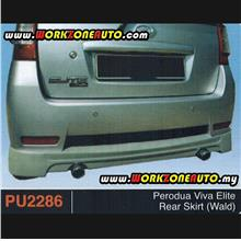 PU2286 Perodua Viva Elite PU Rear Skirt (WALD)