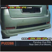 PU2288 Perodua Viva Elite PU Rear Skirt (Full Bloom)