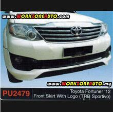 PU2479 Toyota Fortuner 2012 PU Front Skirt With Logo (TRD Sportivo)