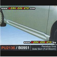 PU2136 Perodua Viva PU Side Skirt (Full Bloom)