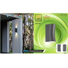 Led up/down wall lamp-in/outdoor-grey color-12W