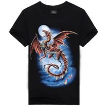 Plus Size 3D Printing Short-Sleeved Round Neck Men's T- dragon (T)