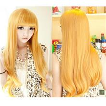 Cosplay hair wig BN26/ ready stock/ rambut palsu/yellow