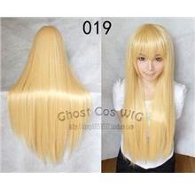 Cosplay hair wig BN10/ ready stock/ rambut palsu/creamy yellow