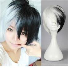 Cosplay men hair wig Danganronpa/ready stock/black white