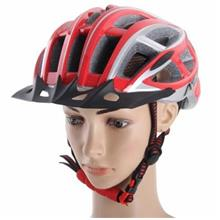 AIDY V100 COOL BICYCLE HELMET (SILVER AND RED)