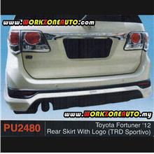 PU2480 Toyota Fortuner 2012 PU Rear Skirt With Logo (TRD Sportivo)