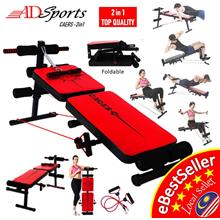 2in1 Gyms Abdominal Sit-ups Fitness Folding Supine Board Bench Chair