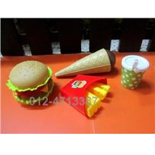 Tableware Fast Food Fun Kitchen Toys For Kids Gift Macdonald