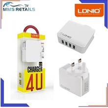 LDNIO A4403 3.4A Four USB Port Travel Charger Mobile Phone Fast Charge