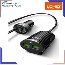 LDNIO C502 4 USB Port Sharing 5.1A Electric Phone Car Charger