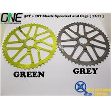 ONEUP COMPONENTS 50T + 18T Shark Sprocket and Cage [ 1X11 ]