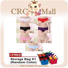 7Pcs ICY Ice Silk Seamless Panties Waist Flatten Tummy and Hips