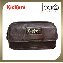 Kickers Men's Leather Mobile Phone Pouch Waist Bag C87793-S DB