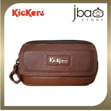 Kickers Men's Leather Mobile Phone Pouch Waist Bag C87793-S LB
