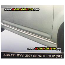 ABS191L Perodua Myvi 2007 ABS Side Skirt Left Hand With Clip (SE)