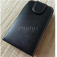 Enjoys: Leather Pouch Cover Case for BlackBerry Curve 8300 ~Flip Top