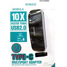 RAMOSS TYPE-C USB3.1 TO USB-A 3.0 X 4 PORT MULTIPORT HUB CH08C4A