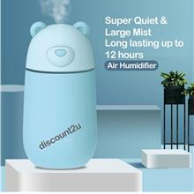 Air Humidifier USB Portable Silent Operation, Night Light & Auto-Stop