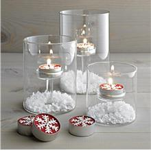Clear Glass Table Candle Holder Fragrance Candle Stand Home Decoration