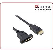 Panel Mount HDMI Cable Male to Female with Mounting