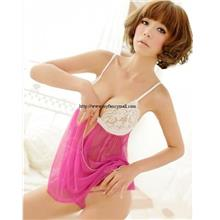 01757 Sexy Sleep Lingerie Underwear Pyjamas Nightwear Skirt+T