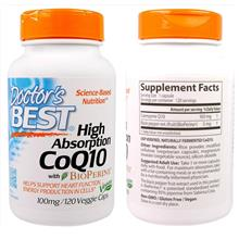 Doctor's Best, CoQ10, with BioPerine, Gluten-Free 100 mg (120 Vcaps)