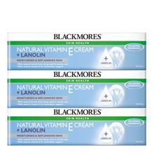 BLACKMORES Natural Vitamin E Cream Lanolin 3 x 50g)