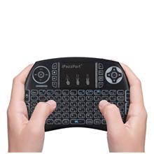 HEBREW BLACK iPazzPort 21S Wireless Mini Keyboard