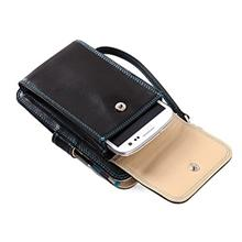 [From USA]Mens Wristlet Clutch Phone Wallet - Premium Eco Friendly Leather Cel