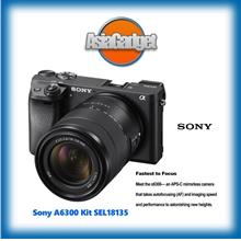 Sony A6300 Kit SEL18135 (Black) FREE Sandisk 32Gb Ultra