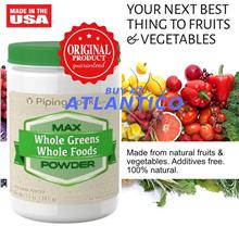 Max Whole Greens Food Powder 341gm Bottle (Vitamins Mineral)