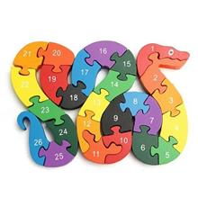 3D Wooden Winding Animals Cognition Jigsaw Puzzle Toy (MULTI-A)