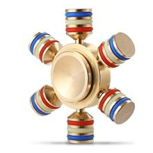 ALLOY FIDGET SPINNER FUNNY STRESS RELIEVER RELAXATION GIFT (GOLDEN)