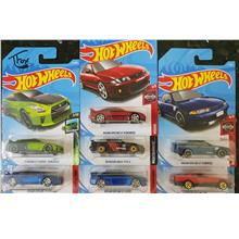 Hot wheels 7 sky line cars