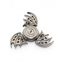 FOCUS TOY DRAGON WINGS FINGER GYRO SPINNER BIRTHDAY GIFT (SILVER)