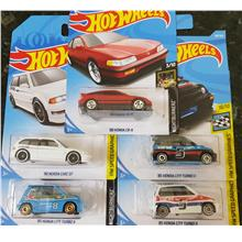 Hot wheels 5 honda cars