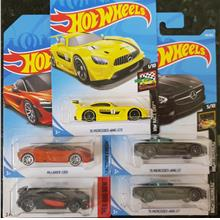 Hot wheels 5 Mercedes cars