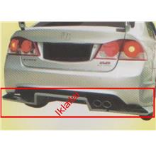 Honda Civic FD '06 Rear Bumper Diffuser [Type-R Feel's] [LL1086]