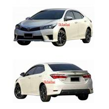 Toyota Altis '14 TRD Full Set Body Kit Skirting + Spoiler Painted (PP)