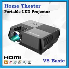 [ 1 Year Warranty ] OHHS V8 Basic LED Portable Home Theater Projector