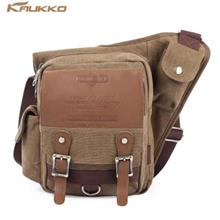 KAUKKO SG255 4L MEN SLING BAG WITH BUSINESS STYLE MICROFIBER LEATHER MADE (KHA