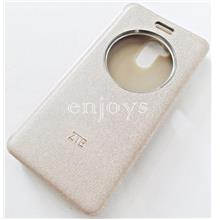 ORIGINAL S View Book Flip Cover Hard Case ZTE Blade V7 Lite 5.0' ~GOLD