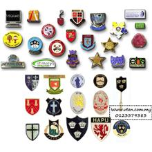 Custom made Metal Badges with Logo Customized Shaped School Badges