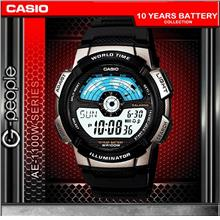 CASIO AE-1100W-1AV WORLD TIME WATCH☑ORIGINAL☑