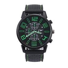 Casual Quartz Analog Silicone Stainless Steel Dial Sports WristWatch