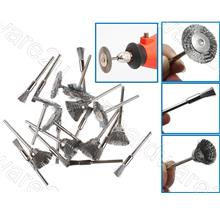 20Pcs Mixed 3MM Shank Steel Wire Brush For Rotary Tools (MWB03-20)