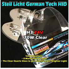 [1901B53] H3 24V 70W Clear Halogen Headlight Replacement Bulb Low High