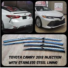 Toyota Camry 18-19 Injection Stainless Steel Chrome Lining Door Visor